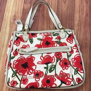 NWT Coach Poppy Floral Tote Bag w/Dust Bag
